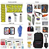 Ready America 70452 72 Hour Elite Emergency Kit, 4-Person, 3-Day Backpack, Includes First Aid Kit, Survival Blanket, Portable Preparedness Go-Bag for Camping Car Earthquake Travel Hiking and Hunting