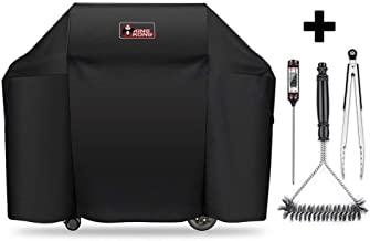 Kingkong 7130 Cover for Weber II 3 Burner Genesis 300 Series Grills Including Brush, Tongs and Thermometer