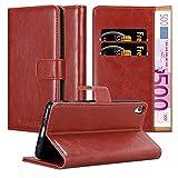 Cadorabo Funda Libro para Sony Xperia XA en Rojo Burdeos - Cubierta Proteccíon con Cierre Magnético, Tarjetero y Función de Suporte - Etui Case Cover Carcasa