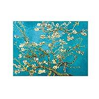 壁の芸術の絵画印象派の花キャンバスの絵画アーモンドの花のポスターとプリント子供のための壁の芸術の写真部屋の装飾50x75cmx1pcsフレームなし