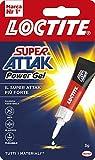 Loctite Super Attak Power Gel, Adesivo Trasparente e Istantaneo Specifico per Materiali Flessibili, Colla Resistente in Formula Gel per Pelle, Gomma e Cuoio, 1 x 3 g