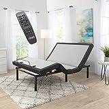 Nestl Adjustable Bed Frame, Adjustable Massage Bed Frame with Wireless Remote, Adjustable Bed Base Head & Foot Massage, Fast & Easy Assembly, USB Ports, LED Light Adjustable Bed Frame King