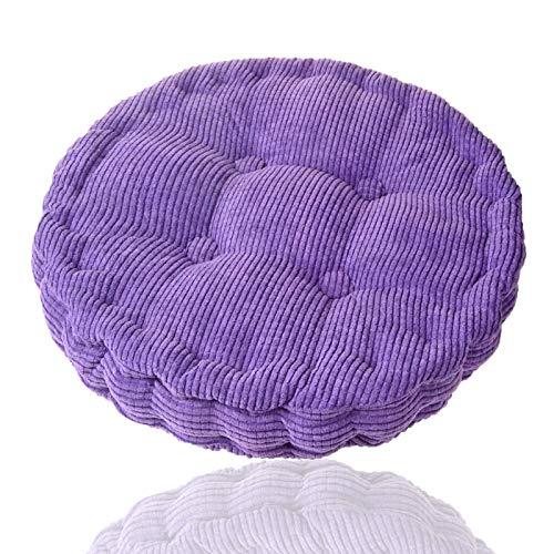 Generisch Cojín redondo para silla, cojín para silla colgante, cojín suave, asiento cómodo, yoga, meditación para el hogar, cocina, comedor, oficina, 45 x 45 cm (morado)