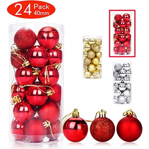 Lot de boules de Noël (plusieurs coloris disponibles)