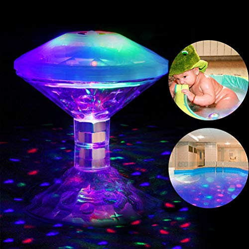 Stecto Schwimmendes LED-Licht, IP68, wasserdicht, Unterwasserlampe, batteriebetrieben, 5 Leuchtmodi, RGB-Farbwechsel, Badewanne, Spa, Pool Disco-Licht