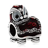 ARTCHARM Chinese Lion Dance Charm 925 Sterling Silver Bead for European 3mm Bracelet Jewelry