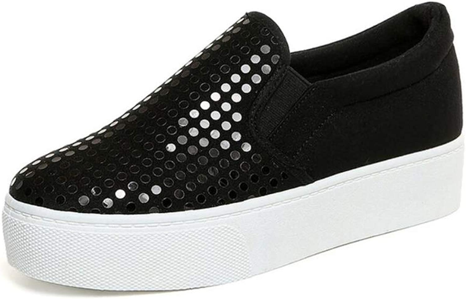 Excellent.c Sequins Breathable Casual Loafers Versatile Comfortable Increased Canvas shoes