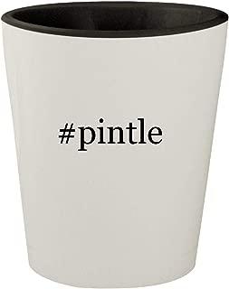 #pintle - White Outer & Black Inner Hashtag Ceramic 1.5oz Shot Glass