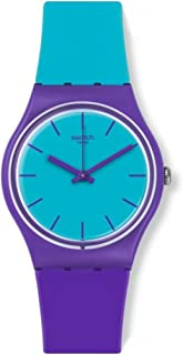 Swatch Mixed Up Women's Blue Dial Rubber Band Watch - GV128