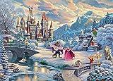 Puzzles De Madera 500/1000 Piezas para Niños Y Adultos,Thomas Kinkade - La Bella Y La Bestia Puzzle En Una Caja Puzzle Educativo Juegos Relajantes Puzle Brain Teaser S