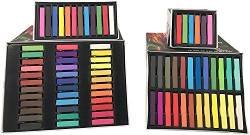 Bonvie.shop Haar Kreide Haarfarb Haarkreide Färben Haartönung 6 12 24 36 Farben Hair Chalks, Set:36 Farben