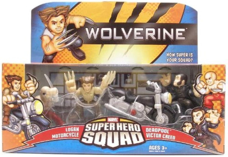 mejor marca Wolverine súper Hero Squad Logan Motorcycle Motorcycle Motorcycle DeadPool Victor Creed by Hasbro  Garantía 100% de ajuste