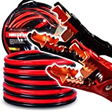 AUTOGEN Booster Cables, 4 Gauge 20 Feet Jumper Battery Cables with Storage Bag, 600A Heavy Duty Jumper Cables with Copper Jaws Booster Jump Start Cars, SUVs, Trucks 12V (4AWG 20 FT)