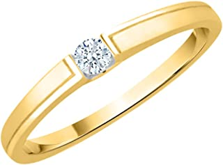 KATARINA 10KT Yellow Gold and diamond Ring for women