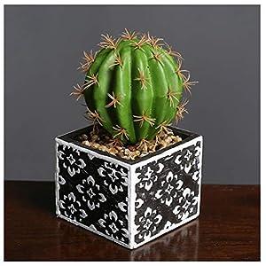 Silk Flower Arrangements LXLTL Artificial Plants, Fake Succulents Plants with Ceramic Pot Green Potted Plant for Home Office Decoration