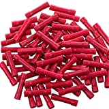 AIRIC Red Butt Connectors Crimp 100pcs 22-16AWG...