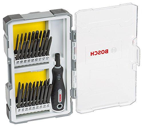Bosch Professional 2607017320 Bit set - Extra lang - Schraubendreherset mit Handgriff 37-teilig