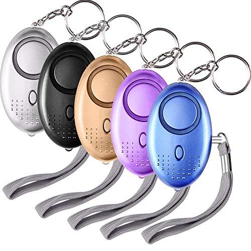 5 Stücke Taschenalarm Personal Alarm Schlüsselanhänger Mit Taschenlampe Panikalarm