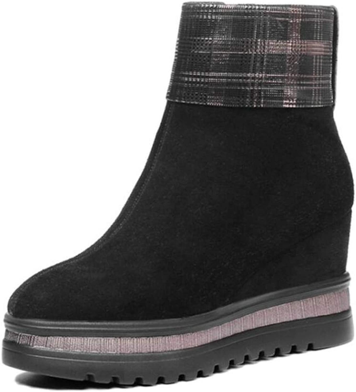 Women's Fashion Scrub Boots Women's Cotton Boots Wedges Waterproof Sheep Sheep Flip Squares Warm Snow Boots