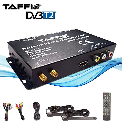 Price comparison product image TAFFIO Universal CAR DVB-T2 H.265 HD Digital Receiver MPEG2 MPEG4 240 km / h TV Signal