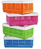 Multipurpose foldable storage baskets Ideal for organizing your small stuff systematically Attractive and sleek design. Can be used in drawers, on the shelves, kitchen, office desk, dining table, kids room, kids study table, in the fridge etc Can be ...