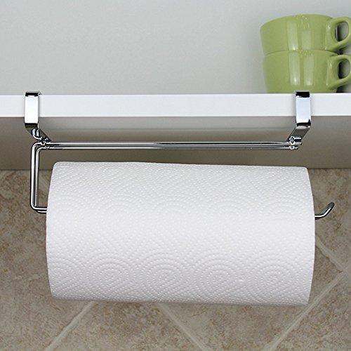Gezichta portarotolo da cucina, gancio, acciaio INOX sottopiano mensola porta rotolo di carta velina porta asciugamani dispenser organizer portaoggetti senza trapano
