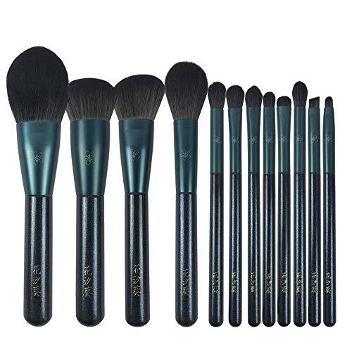 Ensemble De Pinceaux De Maquillage Pinceau En Poudre Libre Blush Highlight Brush Fard À Paupières Foundation Brush, 12 A