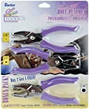 Darice Soft-Handled Hole Punch Cut-Out Rounds Set – Includes 1/16', 1/8' and 5/16' Hole Punches – Cage to Catch Scraps to Reduce Mess – for Scrapbooking, Cards, Crafts and More (Pack of 3 Punches)