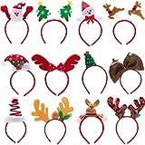 JOYIN Pack de 9 diademas de Navidad con diseño surtido para suministros de fiesta de Navidad y regalos de fiesta (talla única)