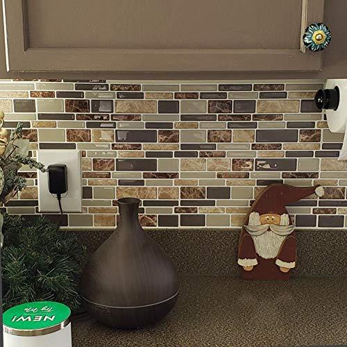 Vamos Tile 10 Sheets Peel and Stick Kitchen Backsplash - 12
