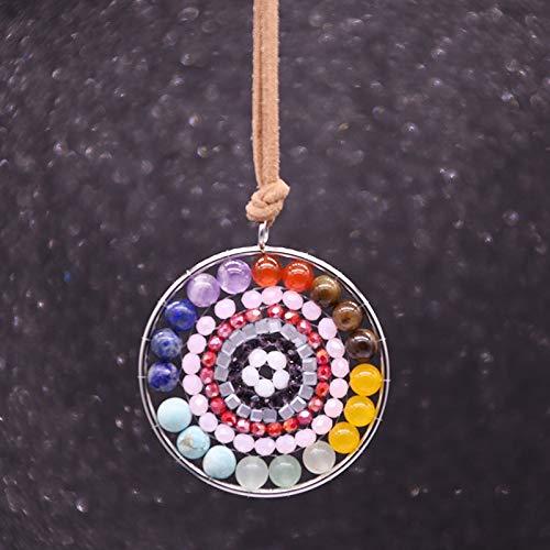 RMYSUM Orgonite Pendant Sri Yantra Necklace Sacred Geometry Chakra Energy Necklace Meditation Jewelry