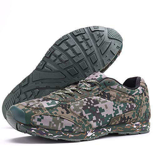 YUANZHOU Camo Mens Trainers - Breathable Shoes, Lightweight Footwear Best for Sports, Gym, Camping, Hiking, Outdoors,42