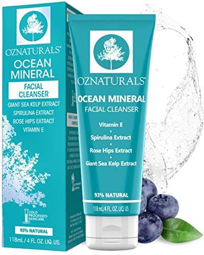 Oznaturals Nettoyant visage – Ce Nettoyant visage Naturel est une qualité supérieure Nettoyant qui Nettoie et Désincruste les pores étroite avec Ocean minéraux