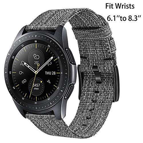 TRUMiRR kompatibel Für Samsung Galaxy Watch3 41mm /Galaxy Watch Active/Active2/Galaxy Watch 42mm/Gear Sport Armband, 20mm Gewebtes Nylon Armband Sport Uhrenarmband für Garmin Vivoactive 3, Ticwatch E