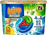 Wipp Express Discs Detergente en Cápsulas Antiolores, 50 Dosis, 1250 Gramos