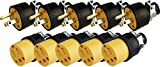 Black Duck Brand Male & Female Extension Cord Replacement Electrical Plugs End (10 Pieces)...