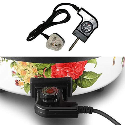 Qirun Cable de alimentación Ajustable con Enchufe US/UK/SA/EU/CN con regulador automático para Enchufe de Clavija