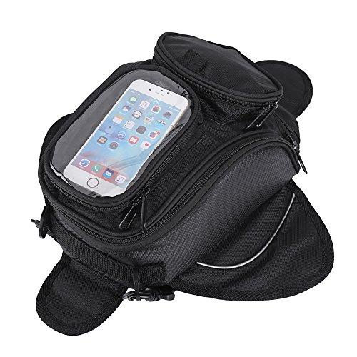 Fydun Bolsa de Tanque de Motocicleta Impermeable Bolsas para Depósito Motocicleta Universal 35 * 17 * 15cm con Diseño de pantalla de teléfono móvil