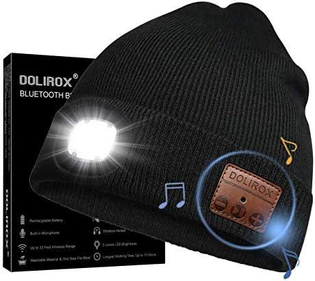 Bluetooth Beanie Hat LED Headphone Beanie Unisex Wireless Beanie Headphone Knitted Lighted Beanie product image