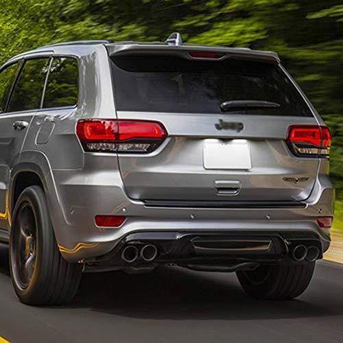 2 Stück/Set Auto hinten Hohe Helligkeit Weiße LED-Kennzeichenleuchte Kennzeichenleuchte für Jeep Grand Cherokee Compass Patriot für Maserati Levante für Dodge Viper Autozubehör