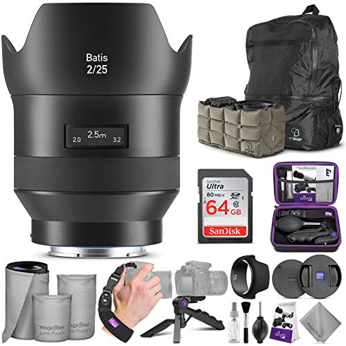 ZEISS Batis 25mm f/2 Lens for Sony E Mount w/Advanced Photo and Travel Bundle