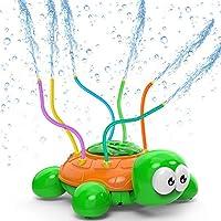 Kiztoys Outdoor Water Sprinkler for Kids and Toddlers Backyard Spinning Turtle Sprinkler Toy Wiggle Tubes Spray...