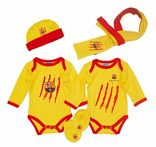 F.C.BARCELONA - Pack Recién Nacido Barça, Color Amarillo, Talla Talla Única