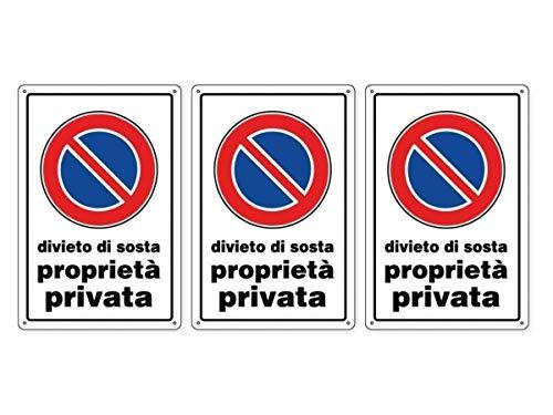 CARTELLO DIVIETO DI SOSTA Proprietà privata 30 x 20 cm in PVC (3)