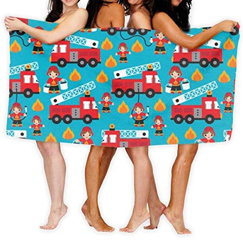 Toallas de playa, camión de bomberos y héroe niños coche de gran tamaño microfibra súper absorbente personalidad toalla de baño playa manta toallas 90x150cm