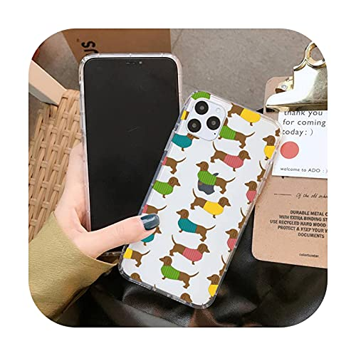 Wukuli Chihuahua - Funda para iPhone 11 12 Pro XS MAX 8 7 6 6S Plus X 5S SE 2020 XR Cover A13-Para iPhone 6 6s