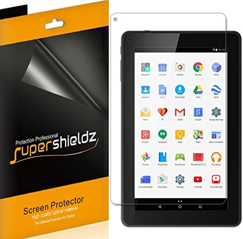 (3 Pack) Supershieldz Designed for Polaroid 7 inch HD Tablet (P709) Screen Protector, High Definition Clear Shield (PET)