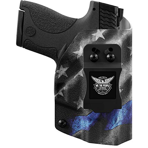 We The People Holsters - Thin Blue Line - Right Hand Inside Waistband Concealed Carry Kydex IWB Holster Compatible with Glock 43/43X MOS RDS