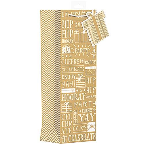 Kraft Bolsa de regalo con texto 'Hip Hip Horray'