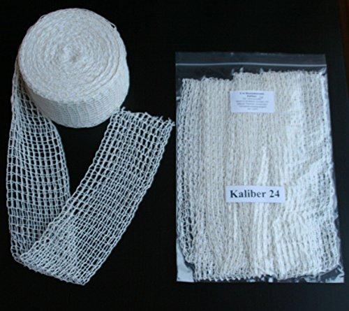 10m Kaliber 24 Bratennetz/Rollbratennetz/Räuchernetz für Einfüllrohr mit einem Durchmesser von ca. 190 mm